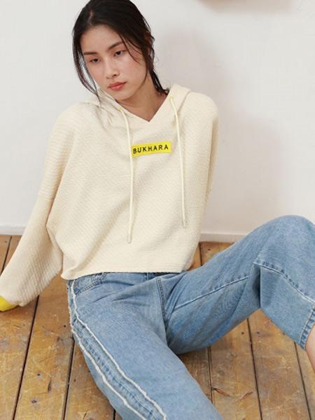 BUKHARA布卡拉女装品牌2019秋季新款宽松韩版修身个性文字印花卫衣