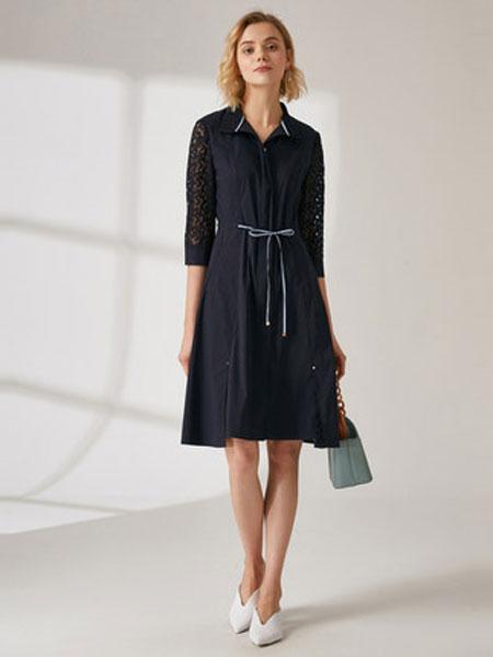 珂思女装品牌2019秋季新款收腰显瘦气质