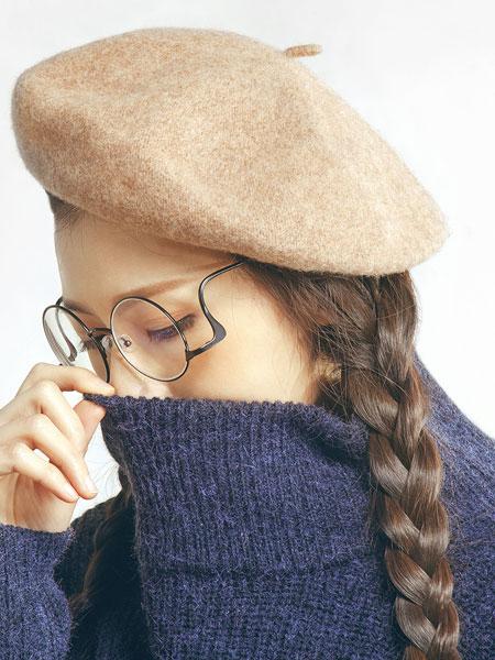 雀啡女�b品牌2019秋冬秋冬羊毛呢��家帽�r尚百搭潮���帽