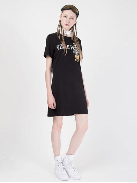 HI PANDA休闲品牌2019春夏 设计潮牌 T恤裙