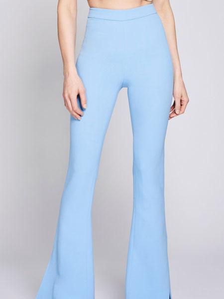 Cushnie et Ochs女装品牌2019春夏新款时尚收腰运动阔腿裤