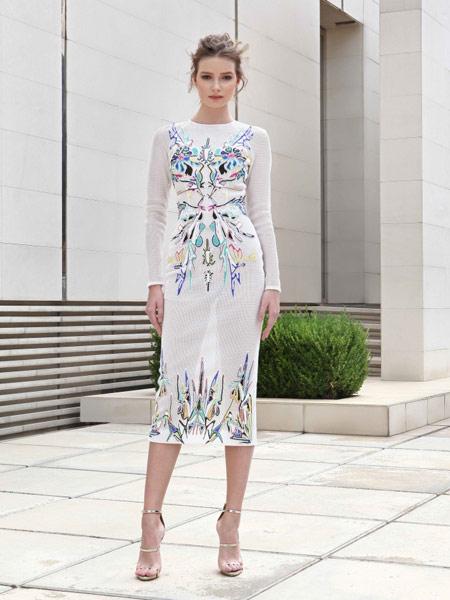 Adeline Andre女装品牌2019春夏新款淑女时尚修身连衣裙