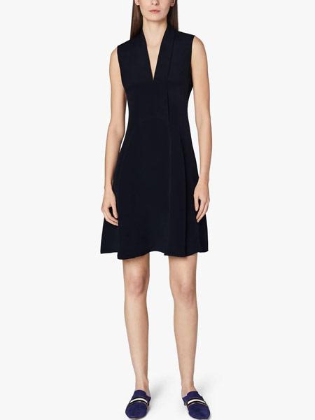 Jonathan Saunders约翰森・桑德斯女装品牌2019春夏新款性感V领背心气质时尚无袖收腰迷你短裙