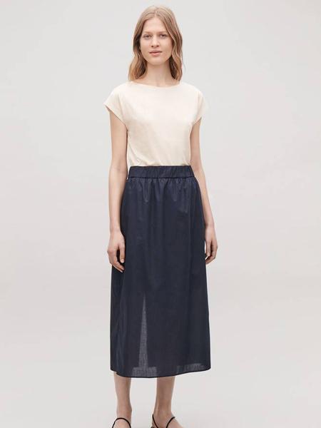 Collection of StyleCOS休闲品牌2019春夏新款气质淑女半身裙高腰显瘦中长裙