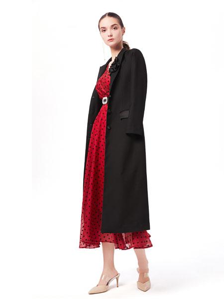 西逅女装品牌2019秋韩版宽松显瘦双面呢羊绒大衣女