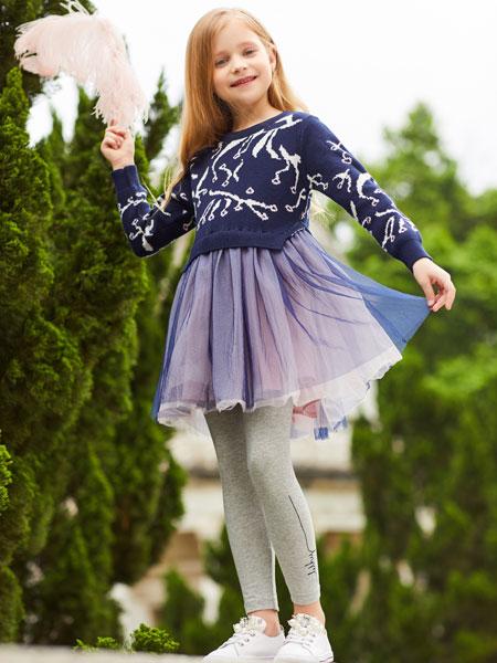 卡儿菲特山西童装品牌2019秋冬星保暖高领加绒厚长袖韩儿童气质网纱公主裙冬裙