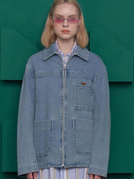 Unalloyed国际品牌2019秋冬设计师品牌翻领口袋复古牛仔套装