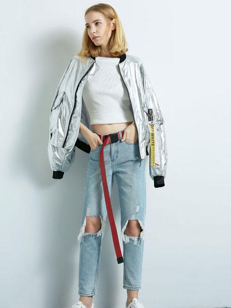 阿莱贝琳休闲品牌2019夏季潮流两件套
