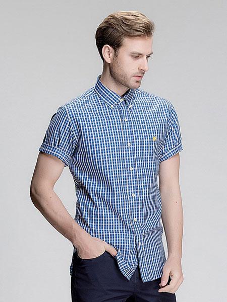 Hart Schaffner Marx(哈特马克斯)男装品牌2019春夏小格子衬衫