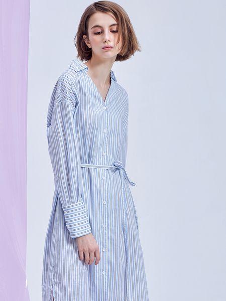 翰代维女装品牌2019秋季气质女生连衣裙