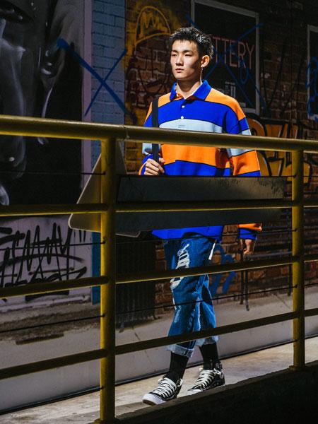 OFFBLACK男装品牌2019秋冬时尚潮流条纹卫衣