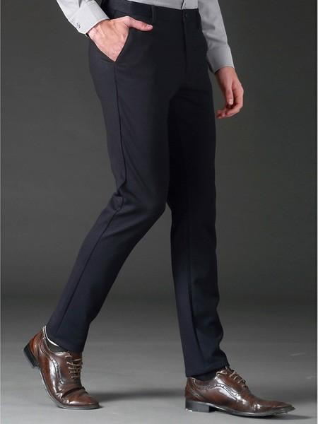 相思鸟男装男装品牌2019秋季修身气质西装裤