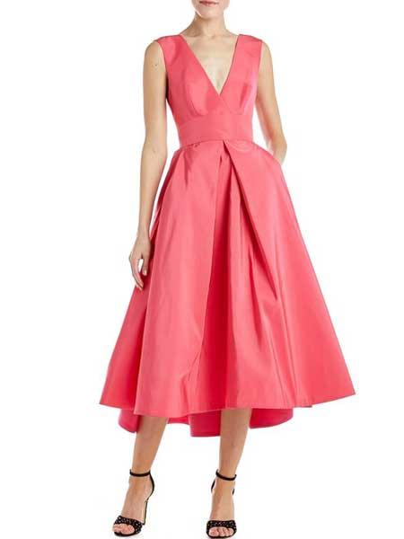 Felicity Brown费利西蒂·布朗女装品牌2019春夏新款时尚性感深V短款礼服