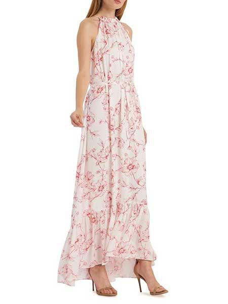 Felicity Brown费利西蒂·布朗女装品牌2019春夏新款甜美气质印花度假风连衣裙