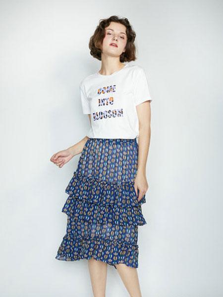 CAGZL(卡姿)女装品牌2019春夏新款韩版圆领宽松显瘦短袖T恤