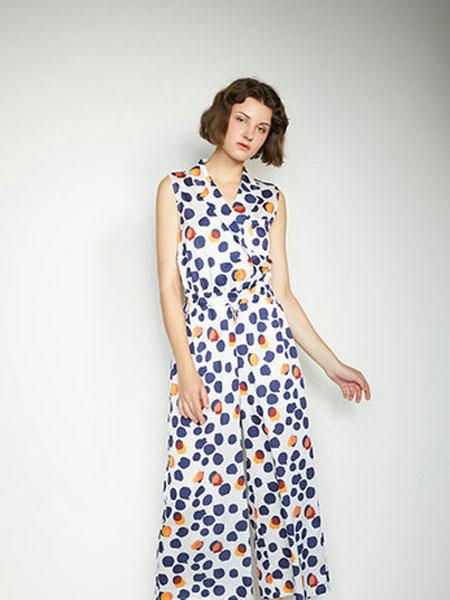 CAGZL(卡姿)女装品牌2019春夏圆领印花吊带时尚连衣裙显瘦小花裙