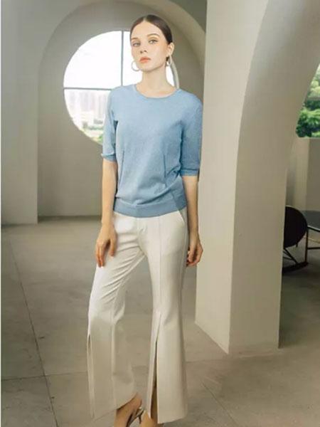 showlong、舒朗、美之藤、高歌女装品牌2019秋季纯色上衣休闲裤