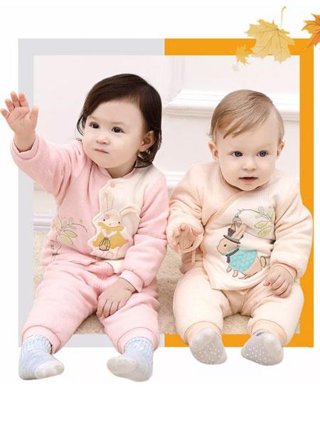 卡迪熊kadibear童装品牌2019秋冬保暖舒适锦绣印花套装