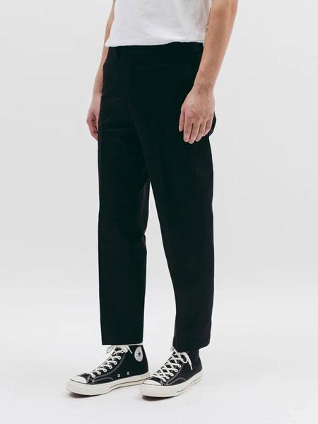 Maiden Noir国际品牌品牌2019秋冬时尚休闲黑色纯色长裤