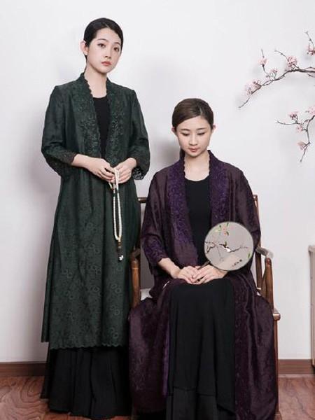 久亿女装品牌2019春夏中国风锦绣绒裙