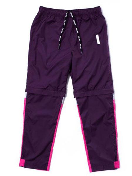 FULL-BK休闲品牌2019秋冬紫色蓝色休闲裤