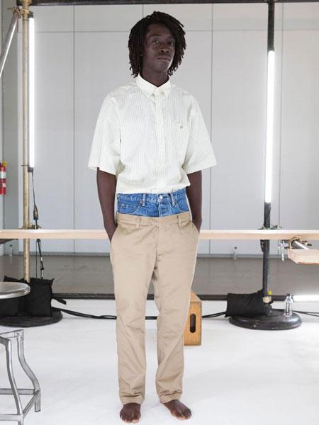 HBNS休闲品牌2019春夏白色衬衫