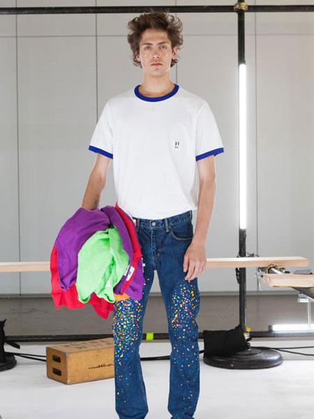HBNS休闲品牌2019春夏白色T恤