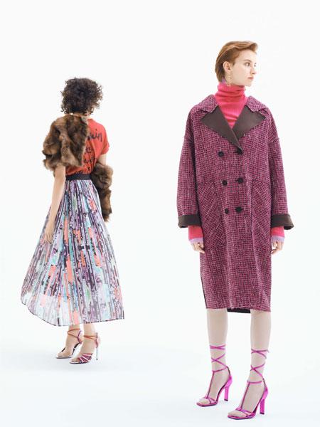 LANVIN En Bleu国际品牌品牌2019秋冬针织大衣桃红色
