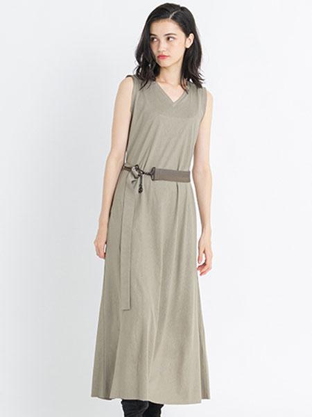 LANVIN En Bleu国际品牌品牌2019春夏时尚潮流纯色裙子