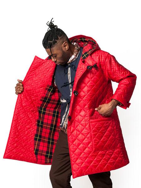 Monitaly国际品牌品牌2019秋冬加绒红色外套