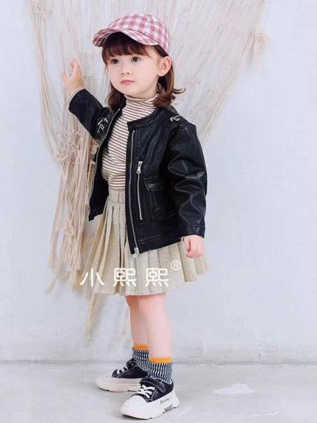 熙熙布衣童装品牌2019秋冬黑色外套