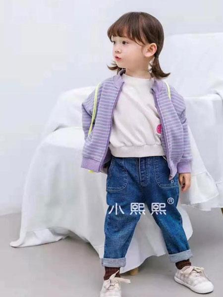 熙熙布衣童装品牌2019秋冬灰色外套