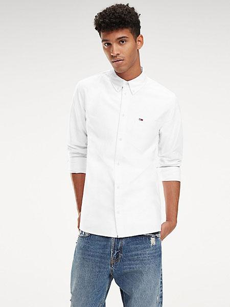 TOMMY JEANS国际品牌品牌2019春夏纯白衬衫