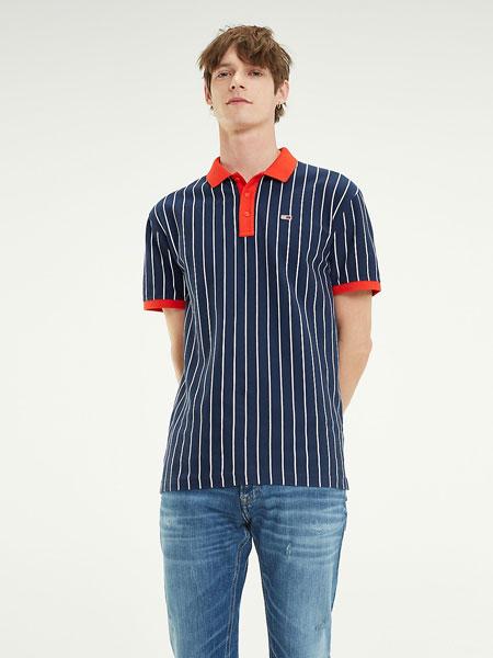 TOMMY JEANS国际品牌2019春夏条纹POLO衫