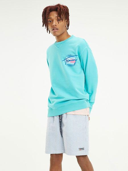 TOMMY JEANS国际品牌2019春夏蓝色T恤