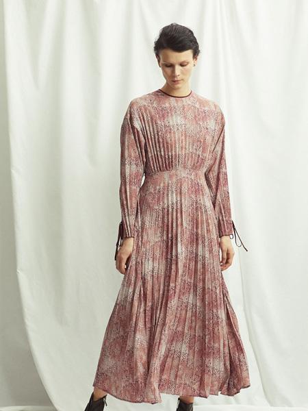 SAYAKA DAVIS女装品牌2019秋冬印花裙子
