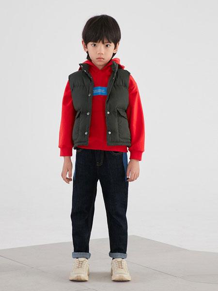 因否童装品牌2019秋冬洋气韩版儿童棉衣马甲卫衣三件套