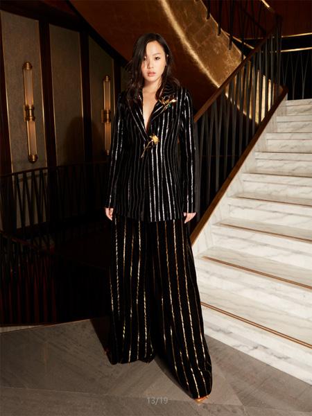 Milin国际品牌品牌2019春夏条纹宽松上衣裤子