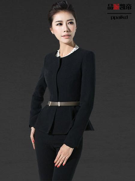 品派凯帝服装定制品牌2019秋冬商务黑色上衣