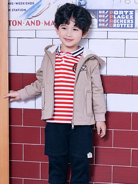 嗒嘀嗒童装品牌2019秋冬儿童纯棉拉链风衣外套