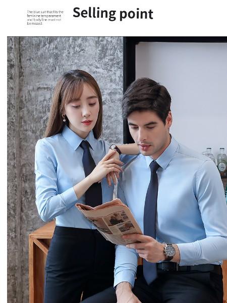 广州白云区衬衫款定制-定制龙归工厂价格衬衫-左胸刺绣logo