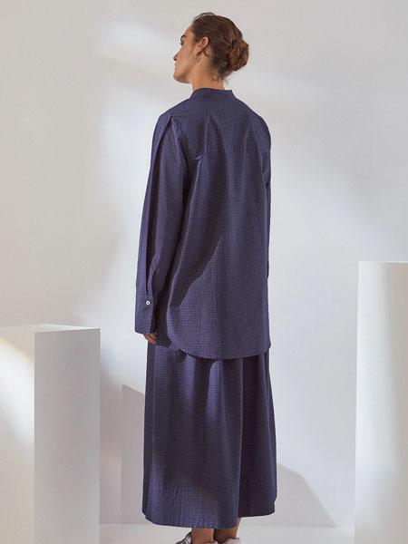 Kowtow女装品牌2019秋冬纯色衬衫裙子