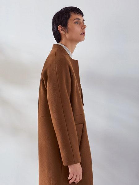 Kowtow女装品牌2019秋冬褐色大衣