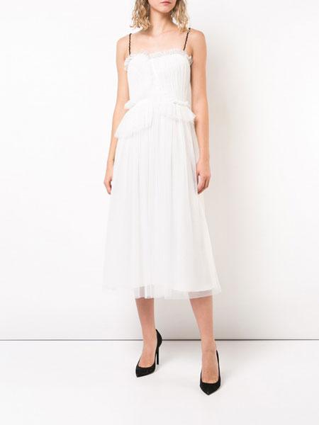 Jason Wu吴季刚女装品牌2019春夏新款时尚气质显瘦吊带雪纺连衣裙