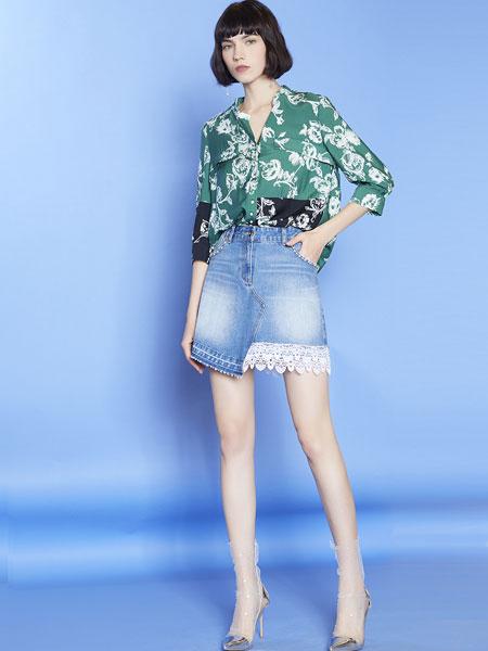 mia mia女装品牌2019春夏新款显瘦高腰大码牛仔半身裙