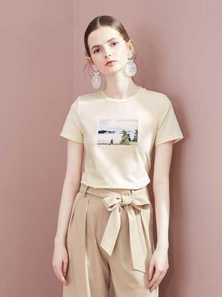 糖力潮品(TAMMYTANGS)女装品牌2019春夏印花宽松t恤图案短袖女打底衫上衣