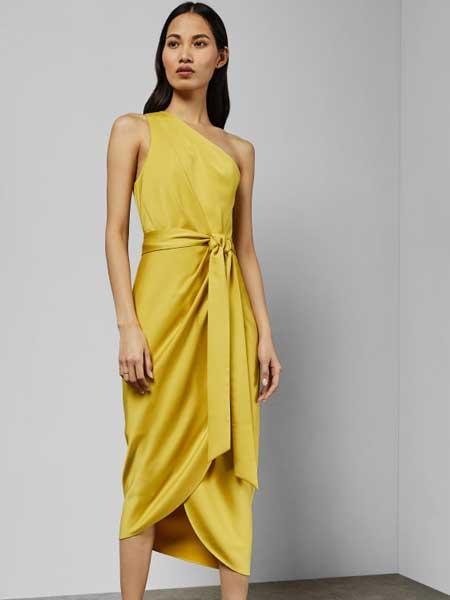 Ted Baker休闲品牌2019春夏新款气质款单肩系带腰包身连衣裙