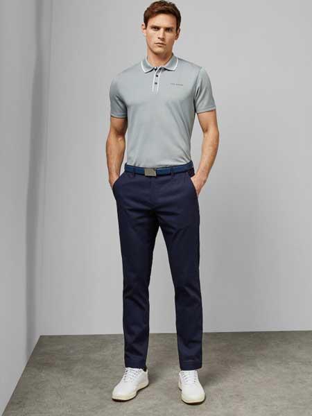 Ted Baker休闲品牌2019春夏新款时尚商务休闲百搭衬衫上衣