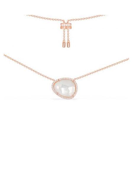 APM国际品牌品牌粉金色赤铁矿项链