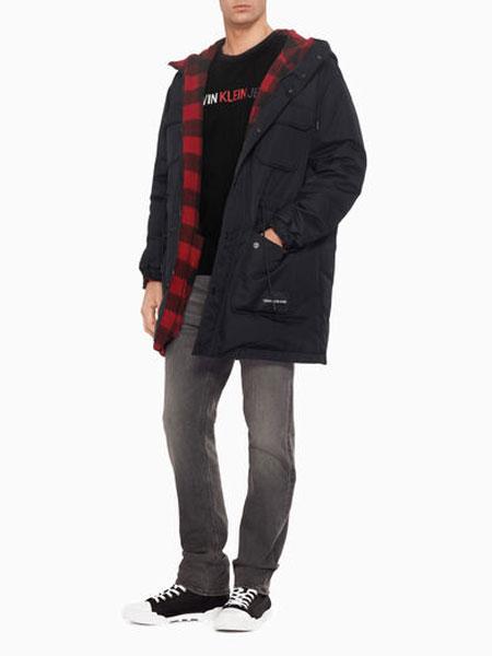 CALVIN KLEIN JEANS国际品牌品牌2019秋冬灰色牛仔裤